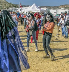 Rock And Roll! (Wes Iversen) Tags: bluesbrothers frankxtolbertwickfowlerchilicookoff kiss terlingua terlinguachilifestival texas costumes men music musicians people tents trailers vacations women masks