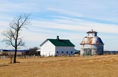 Farm in Kane County, Illinois (Cragin Spring) Tags: illinois il midwest usa unitedstatesofamerica rural farm barn field tree sky clouds kanecounty