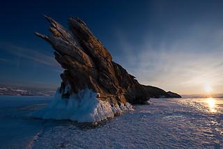Dragon Rock at Sunrise - Baikal Lake
