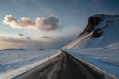 Morning Light (Sophie Carr Photography) Tags: clouds road perspective hvalnes eystrahorn iceland goldenhour