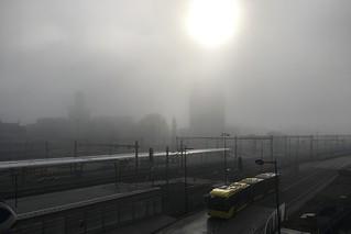 Utrecht Centraal in de mist