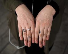 Maya's Hands (jeffcbowen) Tags: maya hands tattoo street stranger toronto