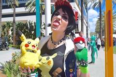 Punk Ash and Pikachu 2 (Koumori W) Tags: wondercon wondercon2018 cosplay pokemon ashketchum ashcosplay satoshi pikachu punk gottacatchemall