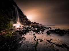 Kimmeridge Waterfall (Richard Walker Photography) Tags: dorset harbour landscape nature longexposure rocks sea waterfall coast ocean beach kimmeridgebay