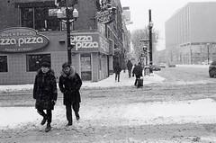 "Trudging (Xsbmrnr (Please read profile before ""following"") Tags: street streetphotography people snow blackandwhite bandw hamilton hamiltonontario winter olympusom1 olympus om1 35mm 35mmfilm hc110"