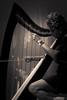 Isabelle in Concert (guysamsonphoto) Tags: guysamson sonyalpha7mkii rokinon85mmf14 bw noiretblanc monochrome harp harpe isabelleclermont