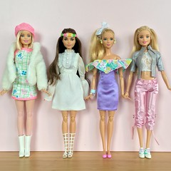 60s. 70s. 80s. 90s. (Emilypm3) Tags: throughthedecades dolls madetomove fashionista barbiestyle dollcollector barbiedoll barbie