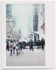 There is no political meaning to this photo (yarr2d2) Tags: speedgraphic graflex fujiinstaxwide polaroid doxie notreally4x5 largeformat nyc newyorkcity easterbonnetfestival2018 parade
