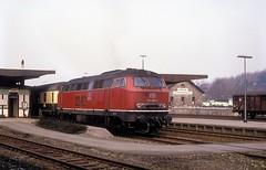 216 068  Goslar  19.04.87 (w. + h. brutzer) Tags: goslar eisenbahn eisenbahnen train trains deutschland germany diesellok dieselloks railway lokomotive locomotive zug 216 db webru analog nikon