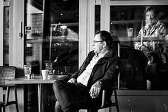 DSCF7848 (yann CM B) Tags: oslo blackandwhite streetphotography blackwhitepassionaward blackdiamond fuji fixlens fujixt20 people bar drink smoker grønland norway outdoor 50mm 35mm