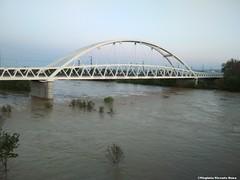Puente del ferrocarril (Virginia Vicente Orna) Tags: crecida inundacion zaragoza el pilar expo parque del agua puente ferrocarril
