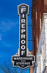 Restored Fireproof Sign (Eridony (Instagram: eridony_prime)) Tags: columbus franklincounty ohio italianvillage shortnorth sign bladesign