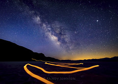 Trying to Compete with the Universe (whatdidyouexpect) Tags: astrophotography badwater deathvalley desert landscape milkyway nature night nightsky saltflats scenic space stars longexposure lightpainting surreal
