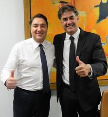Audiência com o prefeito de Cascavel (PR), Leonaldo Paranhos.
