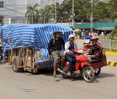 Cambodia Poipet Border Carts 20180131_132920 DSCN2239 (CanadaGood) Tags: asia seasia asean cambodia banteaymeanchey poipet people person motorcycle cart canadagood 2018 thisdecade color colour