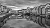 Ponte Vecchio (mandyhedley) Tags: blackandwhite bridge florence italy pontevecchio old city roman riverarno florentine territory architecture arches promenade craftshops arcades cult tourists