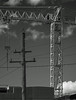 Sky lines (OzzRod (on the road again)) Tags: pentax k1 smcpentaxk200mmf4 sky lines crane gantry wires powerpole singleinmay2018 monochrome blackandwhite