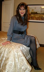 Gray Dress (xgirltv1000) Tags: tgirl trans transgender transwoman transisbeautiful crossdress transformation makeover girlslikeus genderfluid maletofemale mtf michellemonroe