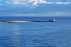 Lighthouse (Douguerreotype) Tags: malta blue valletta architecture water