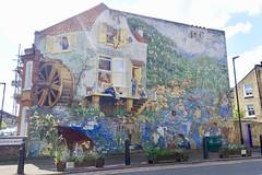 Glenelg Road mural, Brixton, London (Yekkes) Tags: unitedkingdom greatbritain london brixton glenelgroad mural art street streetart painting colour happiness fun stories
