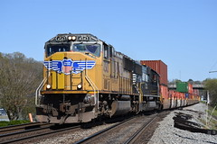 NS 23N 3/31/18 (tjtrainz) Tags: ns norfolk southern 23n intermodal train austell ga georgia division atlanta north district up union pacific sd70m sd70 emd electro motive