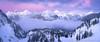 North Cascades Pano (David Swindler (ActionPhotoTours.com)) Tags: cascades fog mountain mtbaker northcascades snow washington winter mountains sunset