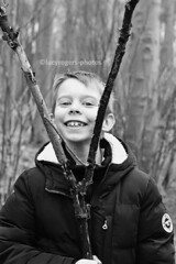 B&W 67/365 (lucyrogersphotography) Tags: blackandwhite nephew family 8yearsold boy child cutie bw 50mm woods outdoors nature