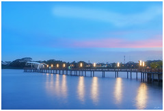 lower seletar reservoir (120418) (n._y_c) Tags: omd olympus oly outdoor omdem5mk2 mz12100pro singapore reservoir lowerseletar waterscape water landscape longexposure light blue bluehour sunset m43 microfourthird