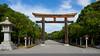 The facade of the gate, Kashihara-Jingu Shrine (橿原神宮) (christinayan01 (busy)) Tags: architecture building perspective nara japan shrine