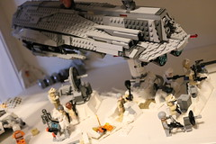 Evacuation from Hoth (Cpt. Ammogeddon) Tags: star wars space moc own custom lego toy play kid movie film science fiction ship vehicle battle camera