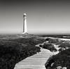 Slangkop Lighthouse (eliaattardo) Tags: monochrome blackandwhite lighthouse southafrica ocean