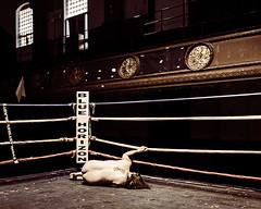 A Stone Under Your Wing (sadandbeautiful (Sarah)) Tags: me woman female self selfportrait abandoned boxingring