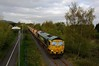 66-610-6G73-Trench-Lock-26-4-2018 (D1021) Tags: shed class66 66610 6g73 freightliner stone hia trench trenchlock telford nikond300 d300 pole poleshot