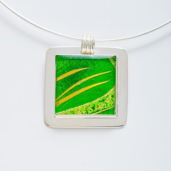Paper Pendant Necklace by Bashful Pineapple (all things paper) Tags: bashfulpineapple paperjewelry resinjewelry silverjewelry paperpendant papernecklace chiyogami japanesepaper