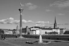 Monument of Engelbrekt (just.Luc) Tags: stockholm bn nb zw monochroom monotone monochrome bw zweden sweden suède europa europe sverige city ville stad stadt