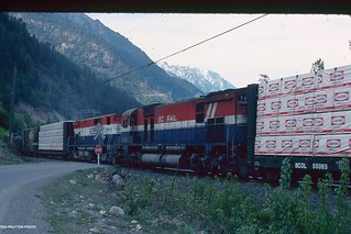 #16 's remotes leaving Darcy, BC May 3rd 1990 BCR SCENE SHOTS002