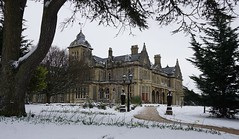 The Mansion Approach (JamieHaugh) Tags: clevedon northsomerset england uk gb greatbritain outdoors sony a6000 color colour snow winter white mansion hall approach trees building architecture cold pathway ilce6000 zeiss