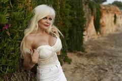 April on Voula beach (DZ-fotografia (8.3 Million views, Thx!)) Tags: sexy long blonde hair woman lady white lace mini skirt