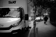 @a corner of Düsseldorf 6 (Amselchen) Tags: road street truck car bnw mono monochrome blackandwhite bokeh blur dof depthoffield city germany sony a7rii alpha7rm2 sonyilce7rm2 sigma mc11 canon ef50mmf18ii