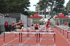 IMG_8275 (susanw210) Tags: track running trackandfield teamwork atheletes students highschool team jumping hurdles lowell cardinals highschoolsports