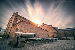 Oslo, Norway 0113 - Cannons at Sunset (Sony A6000, Canon 10-18) (IVAN MAESSTRO) Tags: cannon oslo norway building museum hdr ipmaesstro war old history sony canon