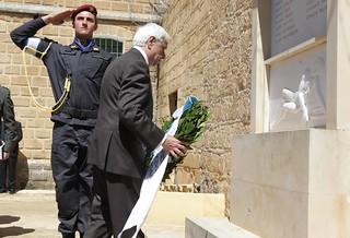 Επίσκεψη του Προέδρου της Ελληνικής Δημοκρατίας κ. Προκόπη Παυλόπουλου στα Φυλακισμένα Μνήματα