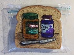 (D Laferriere) Tags: sharpie art bag sandwich pbj peanut butter jelly laferriere attleboro knife teddy ingredients