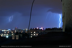 20170606-2316a (srkirad) Tags: lightning lightnings clouds cloudy storm stormy night flash dark light belgrade beograd serbia srbija summer travel roofs buildings city skyline