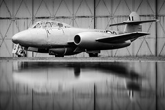 Gloster Meteor T7 (Chris Gilligan) Tags: classic vintage raf cold war ppost jets coventry timeline events nightshoot uk havilland vampire t11 gloster meteor t7 av geek nikon d7000