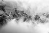 Moody mountain (DrScottA) Tags: unesco unescoworldheritagesite dolomites italy mountain monochrome blackwhite cloud snow landscape view selva valgardena wolkenstein