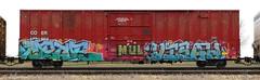 Metue/Visah (quiet-silence) Tags: graffiti graff freight fr8 train railroad railcar art metue visah mul boxcar coer coer172904 e2e endtoend