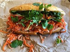 pork meatball banh mi from Dragoneats (Fuzzy Traveler) Tags: porkmeatballs banhmi sandwich dragoneats vietnamese carrots ricenoodles lettuce cilantro daikon