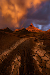 Desert Dream (Mark Metternich) Tags: ngc southwest desert desolation sunset rainbow monsoon thunderstorm storm drama dramatic playa flashflood markmetternich markmetternichcom workshops workshop tours tour guide guiding mountain clouds cloudscape canyon arizona sandstone mud cracked crack wide sony a7r ii