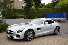 Mercedes-AMG GT C190 (D's Carspotting) Tags: gt belgium sintmartenslatem sml grey 20160729 1pjx276 mercedesamg c190